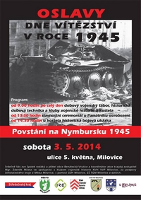 Plakát OSLAVY DNE VÍTĚZSTVÍ 1945